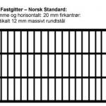 Fastgitter Norsk standard