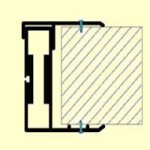 Karm PK4: Aluminium med fast karm for veggtykkelse 80 mm