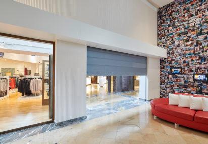 Branngardin EI60 i hotellobby