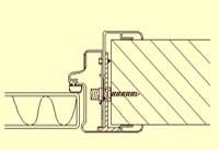 Karm ID2: Aluminium med justerbar karm fra veggtykkelse 70-135 mm.