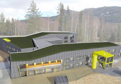 3D-visualisering av Nye Gol Skule